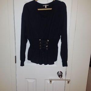 Express One Eleven corset waist sweatshirt